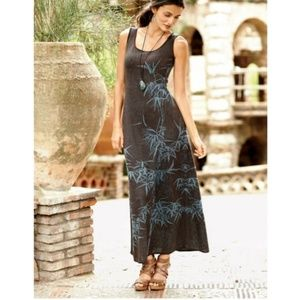 {Peruvian Connection} Bamboo Print Maxi Dress